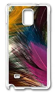 Adorable Feather Textures Hard Case Protective Shell Cell Phone For Case Iphone 4/4S Cover - PC Transparent