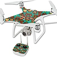 Skin For DJI Phantom 4 Quadcopter Drone – Crazy Tikis | MightySkins Protective, Durable, and Unique Vinyl Decal wrap cover | Easy To Apply, Remove, and Change Styles | Made in the USA