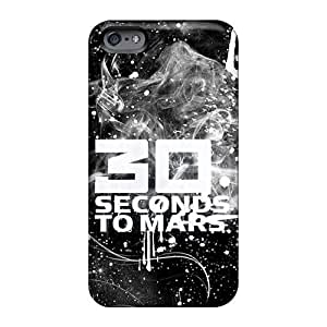 High Grade Vvicky Flexible Tpu Case For Iphone 6 - 30 Seconds To Mars Band 3STM
