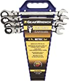 GearWrench 9903 Flex-Head Ratcheting Wrench Completer Set Metric, 4-Piece