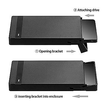 /per SSD//HDD/ /6,3/cm a 8,9/cm Hard Drive Adapter Supporto//Staffa//Kit di Montaggio/ AAA PRODUCTS Metallo di Alta qualit/à/ /Viti di Montaggio Incluse Nero Black