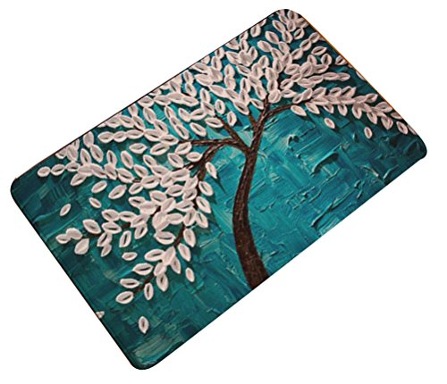 Shoes 2 Free Ship (Oil Painting Floral Door Mat Flannel Antislip LivebyCare Doormat Entry Front Entrance Indoor Outdoor Mats for Decor Decorative Kids Children Bedroom)