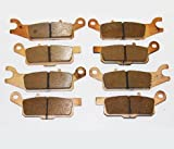 Front and Rear Sintered Brake Pads for Yamaha YFM 700 Grizzly 2007 2008 2009 2010 2011 2012 2013 2014