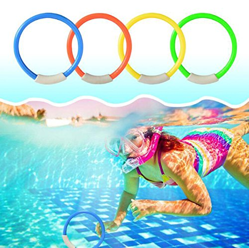 YZKKE Diving Rings Durable Swim Dive Toys Colorful Pool Sink Ring Toys Easily Grab Swimming Pool Toys For Kids Diving Game