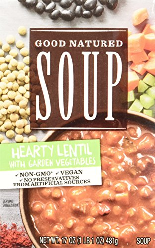 Progresso Soups Good Natured Soup Hearty Lentil with Garden Vegetables Soup, 17 Ounce (Pack of 8)