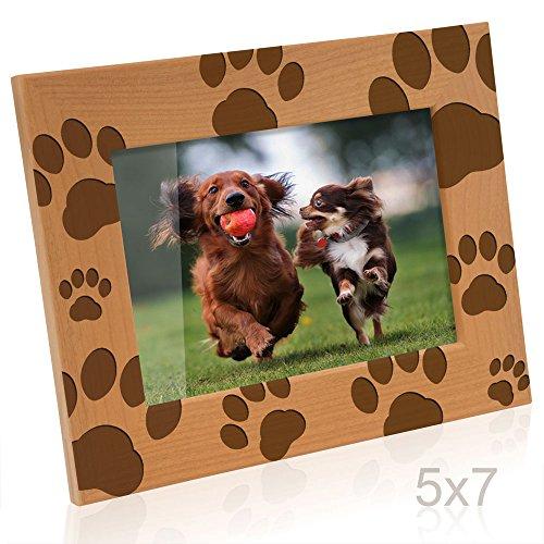 (Kate Posh - Doggie Paw Prints Wooden Picture Frame (5x7-Horizontal))