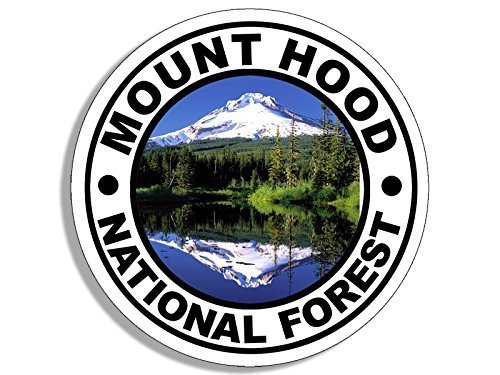 GHaynes Distributing Round MOUNT HOOD National Forest Sticker Decal (travel rv oregon hike) Size: 4 x 4 inch (Best Hikes In Mount Hood National Forest)