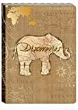 Punch Studio Discoveries Guided Journal, Elephant 75845