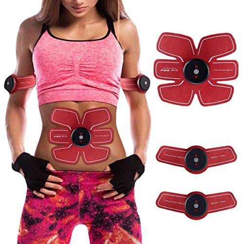 ABS Trainer Muscle Toner Ceinture EMS Muscle Stimulato Muscle Fitness, chargement USB Smart Home appareil de fitness Unisexe support pour homme et femme