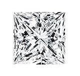 Venetia Top Grade Realistic Supreme Princess Cut Loose NSCD Simulated Diamond 7mm 2 Carats Different Sizes Super Sparkling White Fire LosSQ7