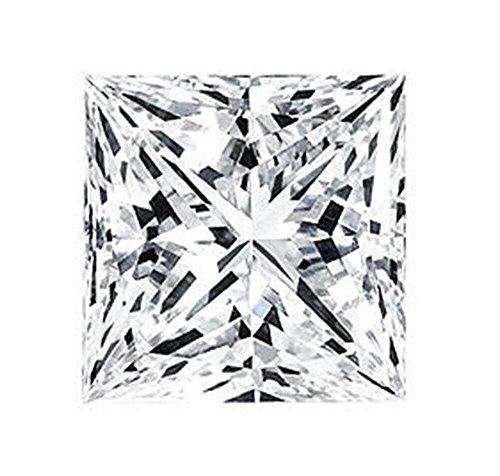 Venetia Top Grade Realistic Supreme Princess Cut Loose NSCD Simulated Diamond 8mm 2.5 Carats Different Sizes Super Sparkling White Fire LosSQ8