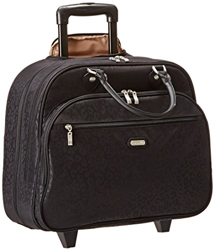 baggallini-carryon-rolling-travel-tote-black-cheetah-one-size