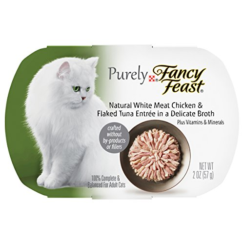 Purina Fancy Feast Purely Natural White Meat Chicken & Flaked Tuna Entree Adult Wet Cat Food - (10) 2 Oz. Trays