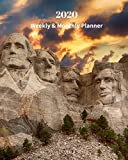 2020 Weekly and Monthly Planner: Mount Rushmore National Memorial - Monthly Calendar with U.S./UK/ Canadian/Christian/Jewish/Muslim Holidays- Calendar ... 8 x 10 in.-South Dakota Travel Vacation