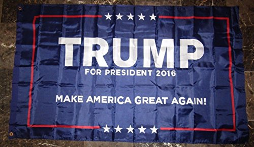 3×5 Donald Trump President 2016 #1 Double Sided 2ply Flag 3'x5′ Brass Grommets Review