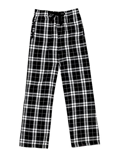 Ultra Soft Unisex Youth 100% Cotton Flannel Pants – Black/White, ()