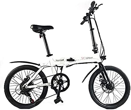 SK8 Bicicleta eléctrica Plegable Urban Nomad 20: Amazon.es ...