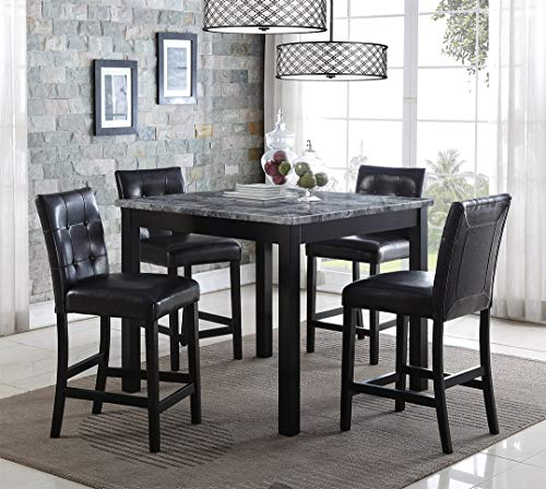 Mollai Collection 5 Pc Pub Dining Table Set W/ 4 Chairs - Black - Houston Tx (Dining Houston Chairs)