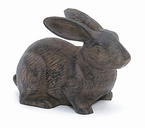 Full Bodied Cast Iron Rabbit Garden Figure by INsideOUT ()