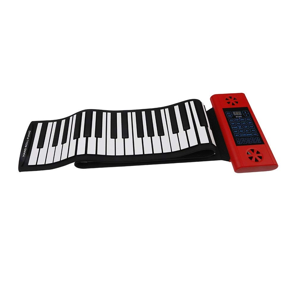 Electronic piano Electronic Digital Music Piano Double Build-in Speaker Thickened 88 Keys Flexible Roll-Up Keyboard MIDI Portable Design With Recording Replaying Functions Foot Pedal 128 Tones 128 Rhy by Shenghua1979-MU