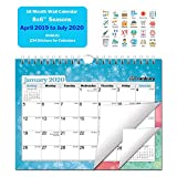 Small Academic Calendar 2019-2020 (Seasons) 8x6 Monthly Wall Calendar, Hanging Academic Calendar, Use Now to July 2020, with Stickers for Small Wall Calendar, Monthly Wall Calendar
