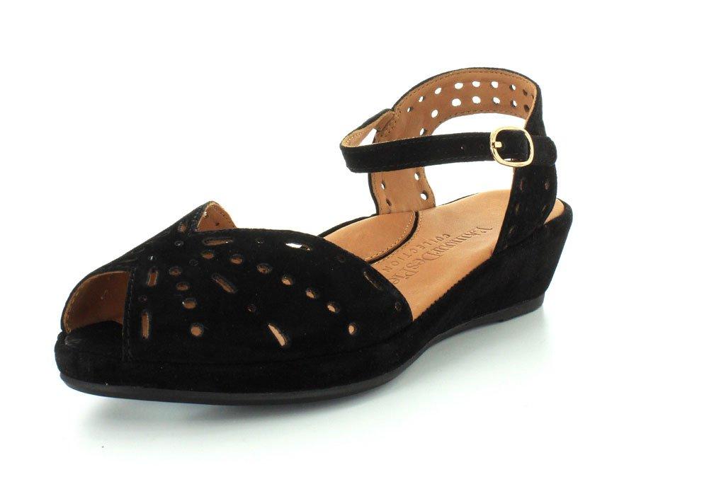 L`Amour Des Pieds Womens Brenn Black Sandal - 5.5 M