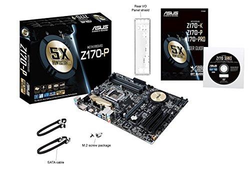 ASUS Motherboard ATX DDR4 LGA 1151 Z170 WS (Renewed)
