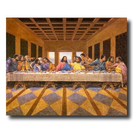 African American Black The Last Supper Jesus Christ Religious Picture Art Print (Black Jesus Picture)