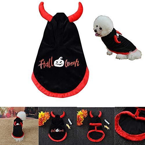 haoricu 2018 Pet Halloween Clothing Cotton Hoodied Sweatshirts Dog Cloak Coat Clothes -