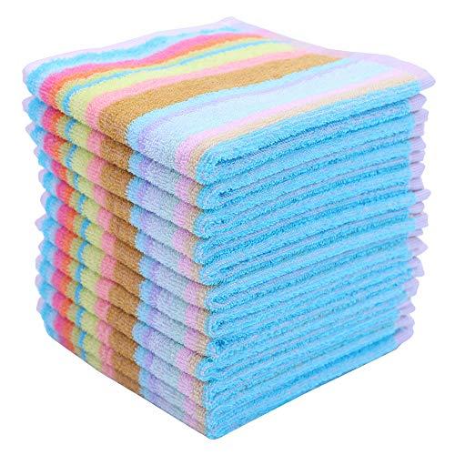 Terry Dishcloth - Egles Kitchen Dish Cloth 100 Cotton Dishcloths Square Terry Towel 12x12inch, 12pcs