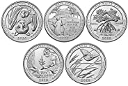 2020 P, D National Park Quarter 10 Coin Set Uncirculated