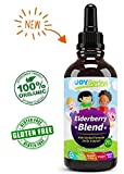 #4: Organic Elderberry Syrup for Kids - Best Natural Kids Cold Medicine, Pure Elderberry Blend for Sickness Relief, 3x Stronger Vegan & Sugar-Free Formula to Strengthen Immune System