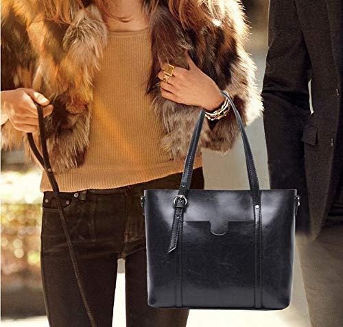 Big Hongge Female Wax Single Hundred lap Shoulder Vintage Bag Bag D Bag Fashion Cow Tote Oil aYwOrq8xAa