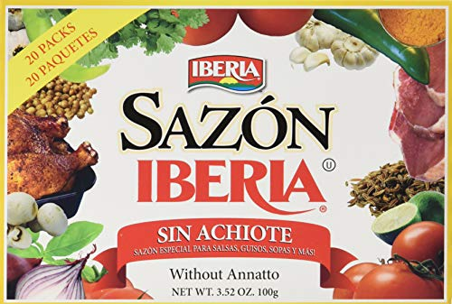 Finest Herbs - Iberia Sazon without Annatto, 3.52 oz, Perfect Seasoning Made With a Combination of Finest Herbs and Spices, 36 Packs
