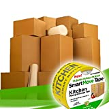 UBOXES Moving Boxes - 2 Room Bigger Smart Moving Kit - 28 Boxes ,Tape, & more