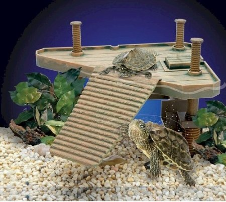 Penn Plax Reptology Small Turtle Pier