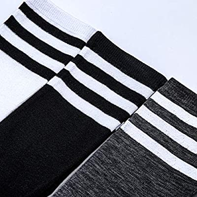 Aneco 6 Pairs Knee High Socks Girls Women Boot High Socks Warm Casual Stocking For Daily Wear Party School at Women's Clothing store