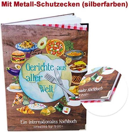 Logbuch-Verlag Rezeptbuch international zum Selberschreiben GERICHTE AUS ALLER WELT - Blankobuch A4 Kochbuch leer für Rezepte Urlaubsrezepte