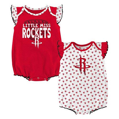 NBA Newborn & Infant 'Heart Fan' 2 Piece Onesie  Houston Rockets-Red-24 Months