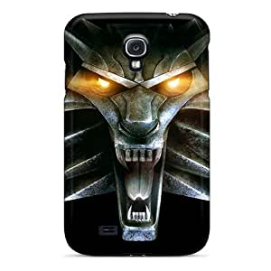 Fashion Tpu Case For Galaxy S4- Video Games The Witcher Wolves Defender Case Cover