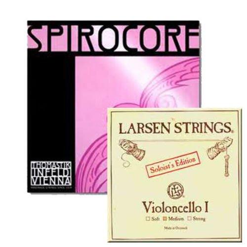 Cello Strings 4/4 Set Larsen Solo A+D
