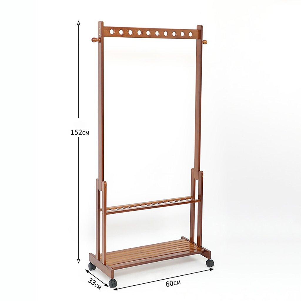 A Coat Rack Hangers Floor-Standing Bedroom Coat Rack Mobile Modern Creative Living Room Clothes Rack Simple Bamboo Wood Hanger (Size   B)