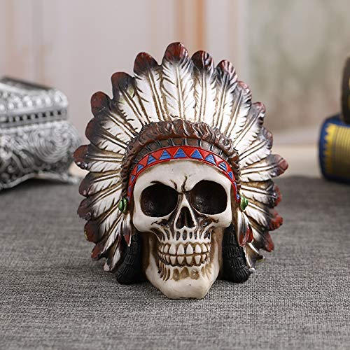 SaveStore Resin Craft Statue for Decoration Skull Head