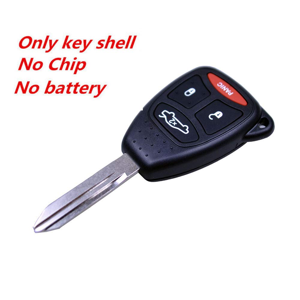 FLYPIG Replacement Case Shell Fob And Pad Combo Keyless Entry Remote Control For Dodge Chrysler Jeep