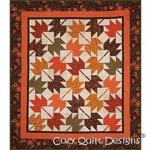 Pattern Fall Leaves Fall Fat Quarters Friendly Pattern Cozy Quilt - Shops Falls The