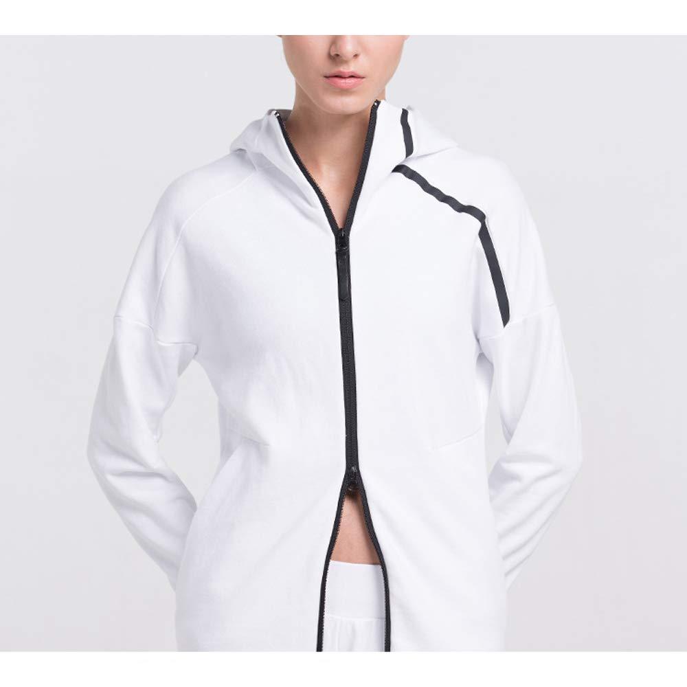 SEEU Damen Classics Sport Kapuzenpullover Zip Hoody Outwear Mantel ...