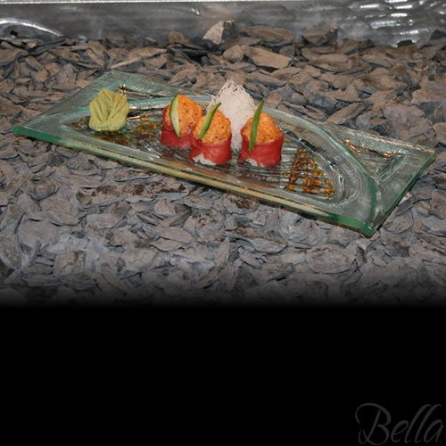 Venetian Cast Glass Sushi Platter - Raised Arch Series - Hand Made - One of a Kind - Safe for Food - Lead Free - Made in USA