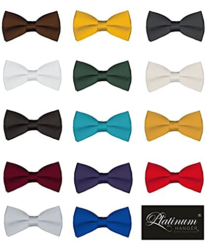 311068585945 Mens Classic Pre-Tied Satin Formal Tuxedo Bowtie Adjustable Length Large  Variety Colors Available, by Platinum Hanger