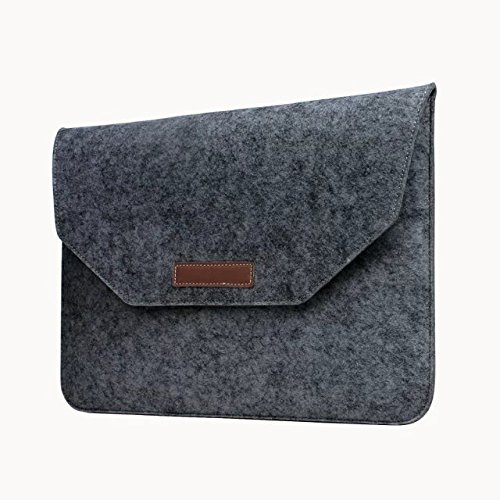 Umiko(TM) Waterproof Fabric Laptop Shoulder Bag Laptop Sleeve Notebook Case for Macbook Pro 15 inch Slim Eco Felt Notebook Envelope Bag Trim Tablet Computer Protective Sleeve Case for Men Guy