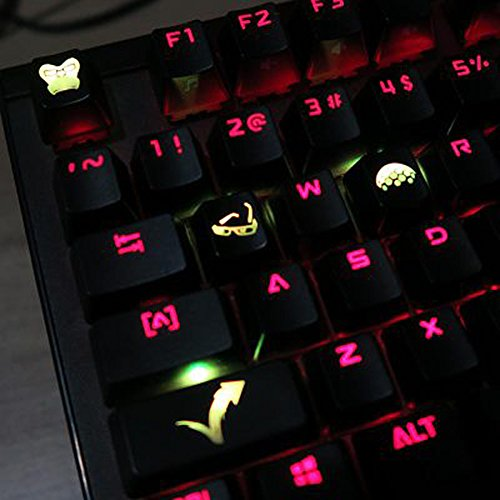 All Decor Overwatch Theme Keycaps Hand-Engraved Resin Translucidus Backlit Key caps for Mechanical Keyboards (cherry switches) With Gift Case - Winston ()